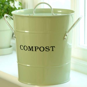 Keep a kitchen waste bin on your counter-top to hold scraps until they are needed.