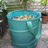 My temporary compost bin