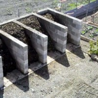 How to compost Static turning bins from breeze-blocks